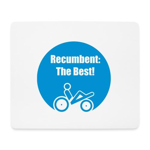 logo recumbent the best - Mousepad (Querformat)