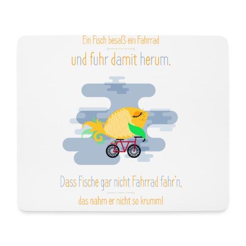 Der Fahrrad-Fisch - Mousepad (Querformat)