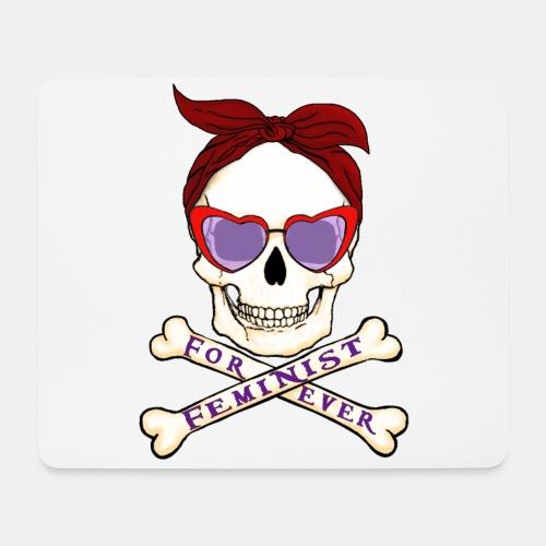Feminist skull - Alfombrilla de ratón (horizontal)