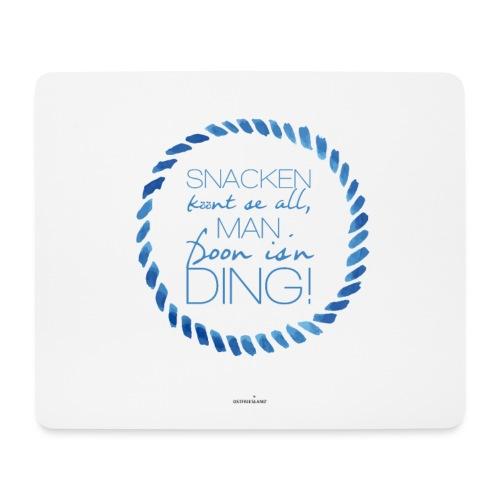 Ostfriesland Startup Poster: Snacken könnt se all - Mousepad (Querformat)