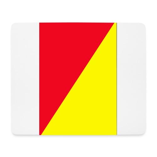 Anima giallo-rosso - Tappetino per mouse (orizzontale)