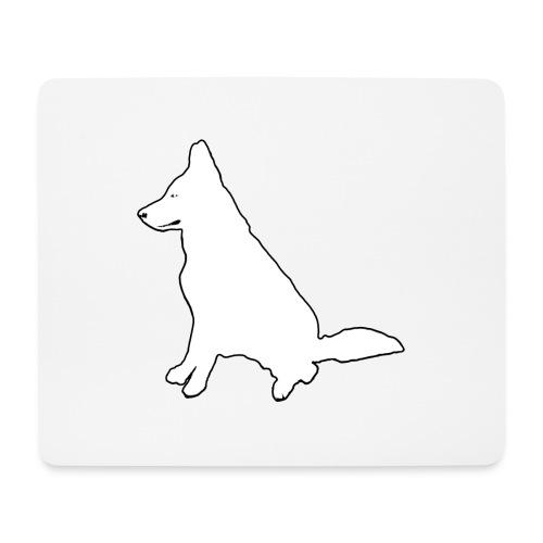 Daron White Dog - Podkładka pod myszkę (orientacja pozioma)