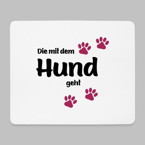 Die Mit Dem Hund Geht - Edition Colored Paw - Mousepad (Querformat)