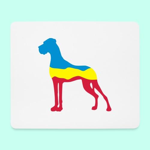 Flaggen Dogge - Mousepad (Querformat)