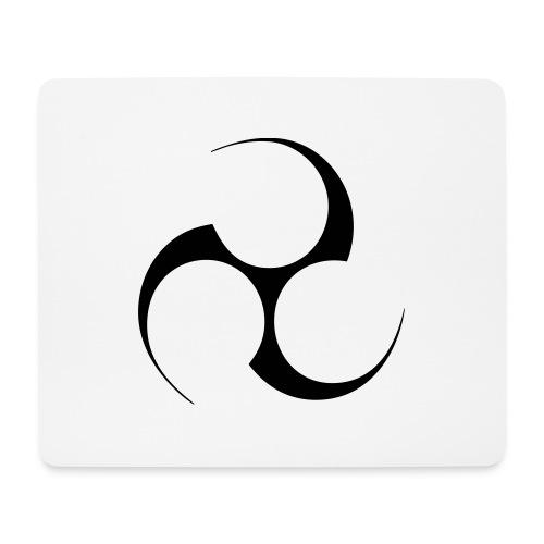 Mitsudomoe Symbol (invertiert) - Mousepad (Querformat)