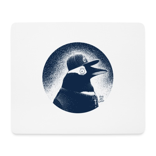 Pinguin dressed in black - Mouse Pad (horizontal)