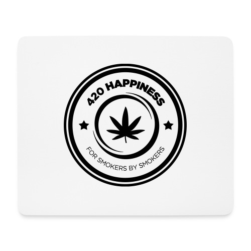 420_Happiness_logo - Mousepad (bredformat)