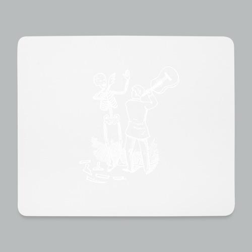 DFBM unbranded white - Mouse Pad (horizontal)