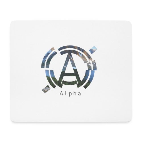 AlphaOfficial Logo T-Shirt - Mouse Pad (horizontal)