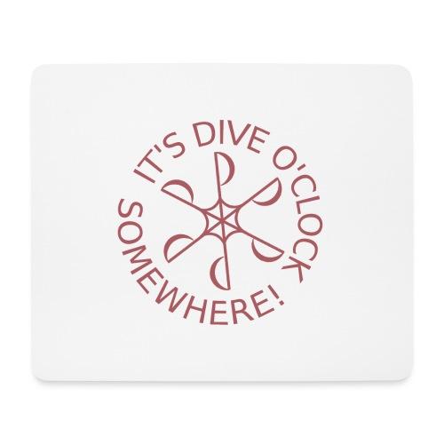Dive o clock Dark Pink - Mouse Pad (horizontal)