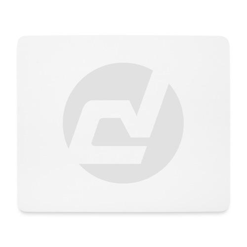 logo blanc - Tapis de souris (format paysage)