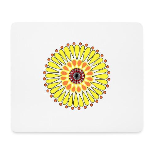 Yellow Sunflower Mandala - Mouse Pad (horizontal)