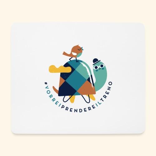 Tartaruga e uccellino - Tappetino per mouse (orizzontale)