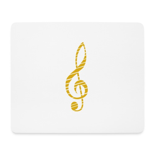 Goldenes Musik Schlüssel Symbol Chopped Up - Mouse Pad (horizontal)