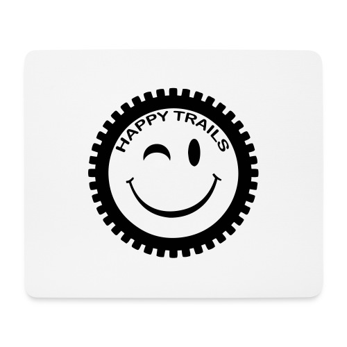 2016_HappyTrails_BW_new2 - Mousepad (Querformat)