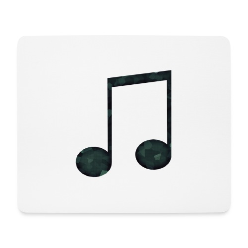 Low Poly Geometric Music Note - Mouse Pad (horizontal)