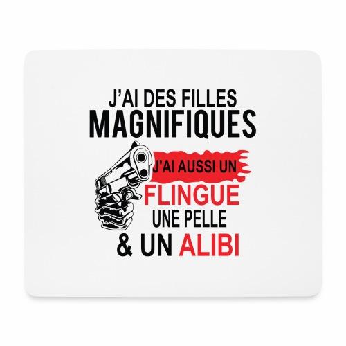 J'AI DEUX FILLES MAGNIFIQUES Best t-shirts 25% - Tapis de souris (format paysage)