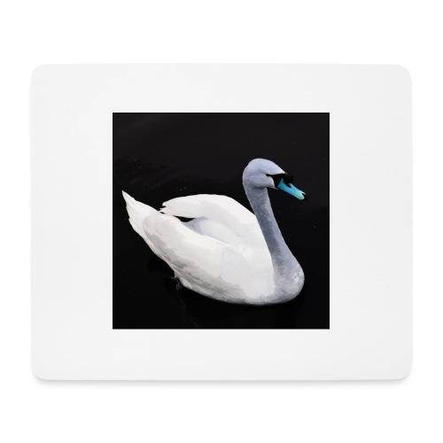 'Blue Swan' by BlackenedMoonArts - Mousepad (bredformat)