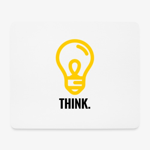 THINK - Tappetino per mouse (orizzontale)