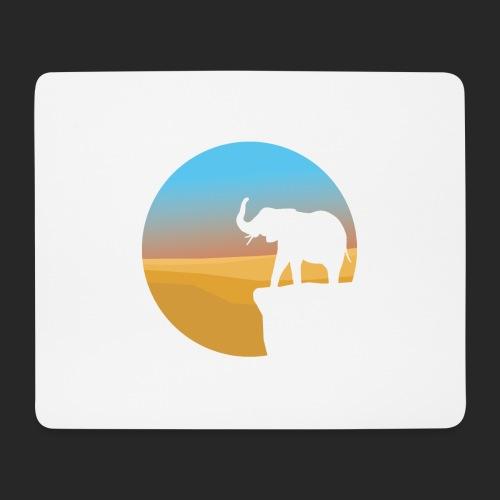 Sunset Elephant - Mouse Pad (horizontal)