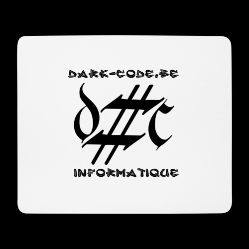 Dark-Code Black Gothic Logo - Tapis de souris (format paysage)