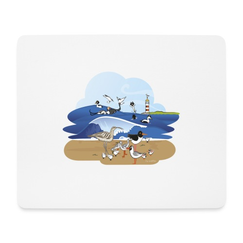 See... birds on the shore - Mouse Pad (horizontal)