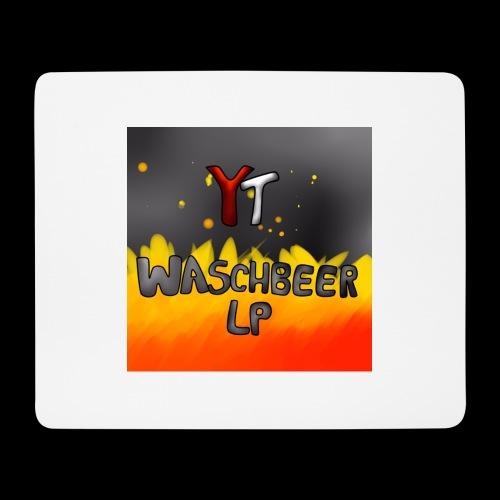 Waschbeer Design 2# Mit Flammen - Mousepad (Querformat)