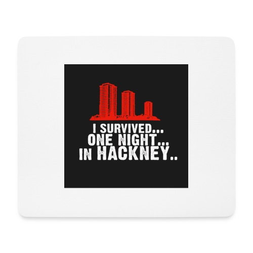 i survived one night in hackney badge - Mouse Pad (horizontal)