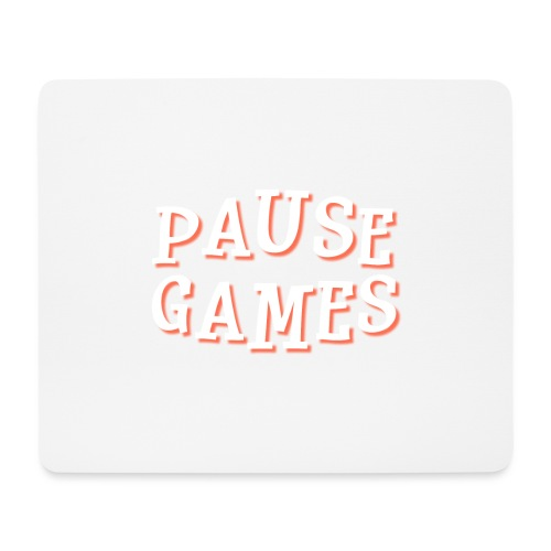 Pause Games Text - Mouse Pad (horizontal)