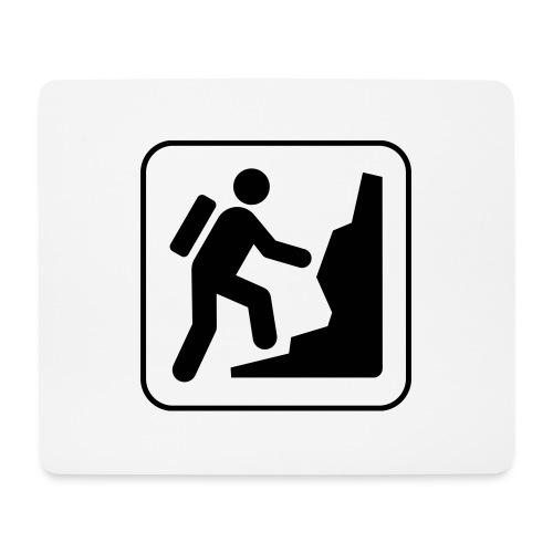 Bergwandern_logo - Mousepad (Querformat)