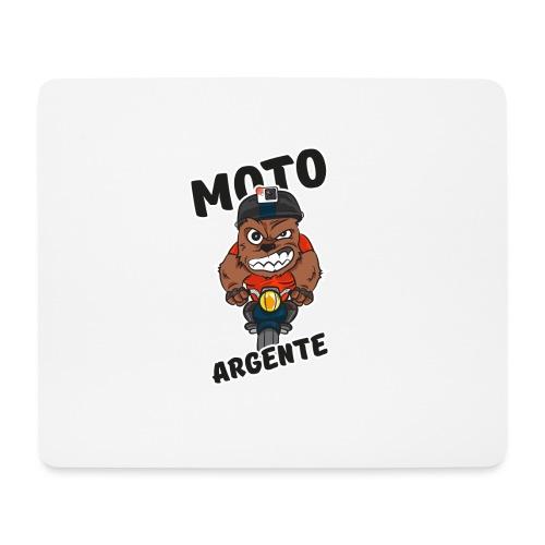 moto argente - Tapis de souris (format paysage)