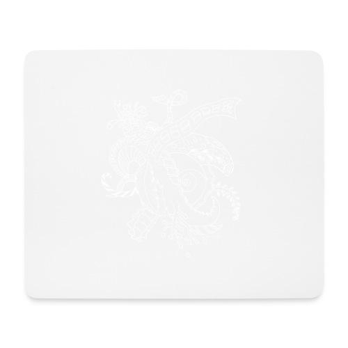 Fantasy hvid scribblesirii - Mousepad (bredformat)