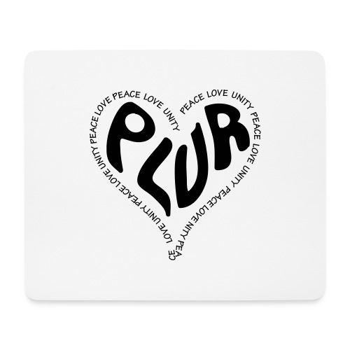 PLUR Peace Love Unity & Respect ravers mantra in a - Mouse Pad (horizontal)