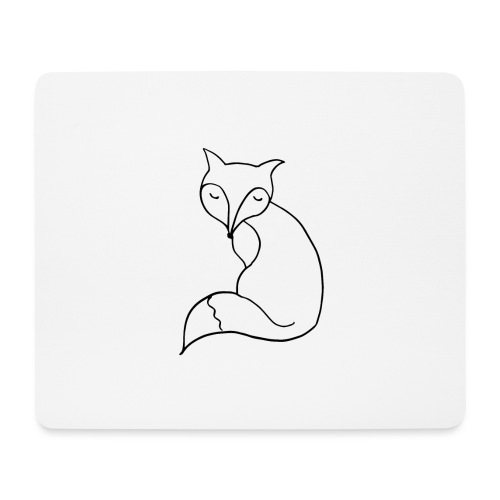 cute fox - Mousepad (Querformat)