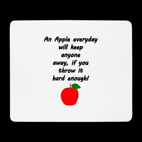 Apple Apfel Doctor Zitat Spruch Lustig - Mousepad (Querformat)