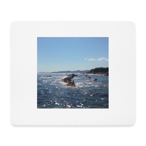 Mer avec roches - Tapis de souris (format paysage)
