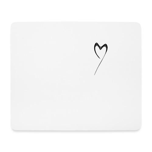 Line Heart - Alfombrilla de ratón (horizontal)
