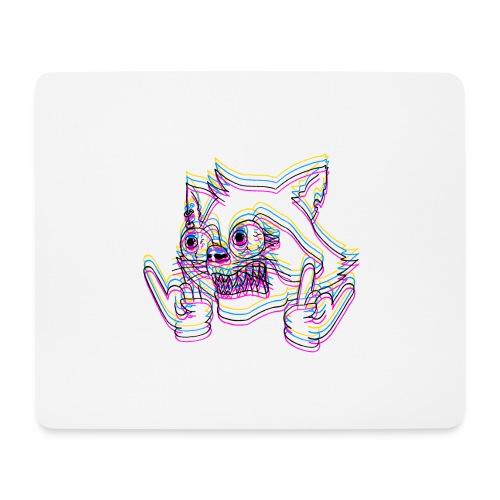 crazyraccoon_black - Mousepad (Querformat)