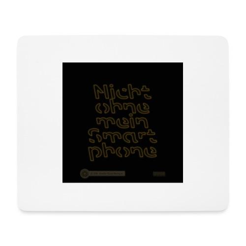 Design Nicht ohne mein Smartphone gold 4x4 - Mousepad (Querformat)