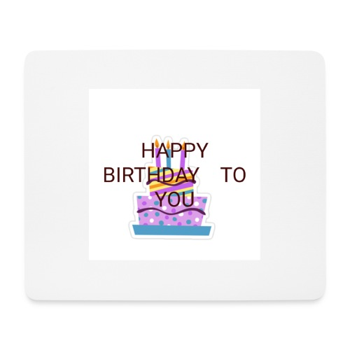 happy birthday 1 - Mouse Pad (horizontal)