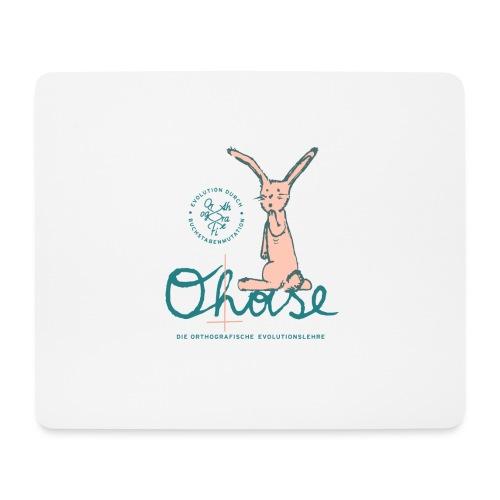 Der O(h)ase - Mousepad (Querformat)