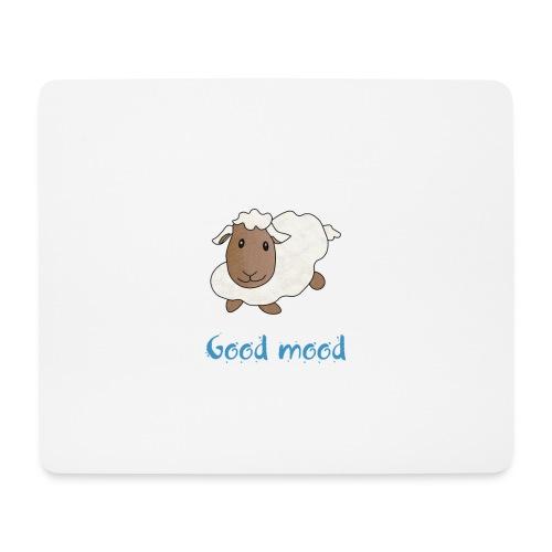 Nadège le petit mouton blanc - Tapis de souris (format paysage)