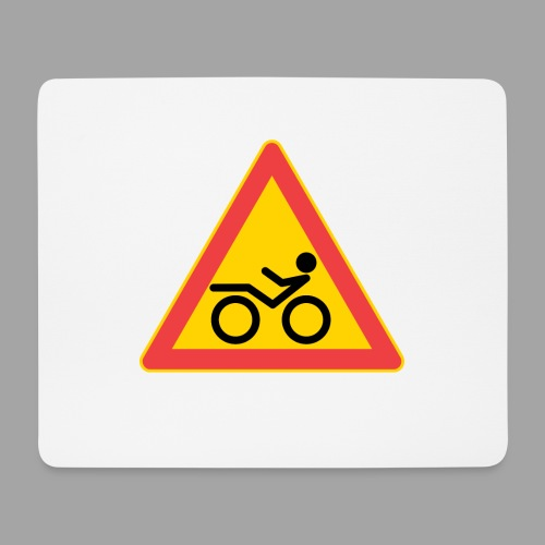 Traffic sign Recumbent - Hiirimatto (vaakamalli)