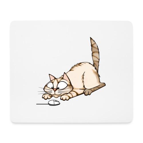 Katz und PC Maus - Mousepad (Querformat)