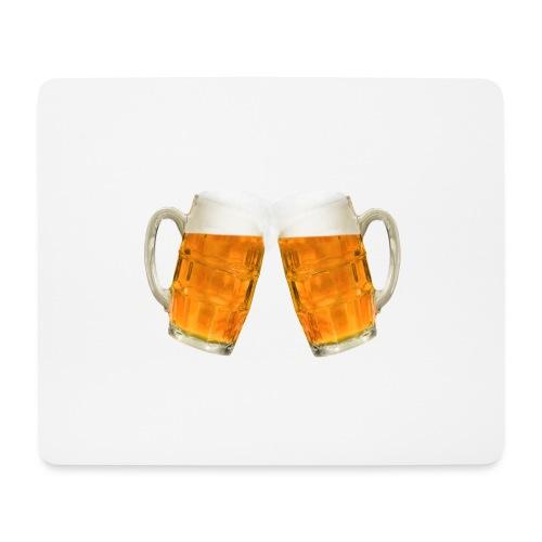 Zwei Bier - Mousepad (Querformat)