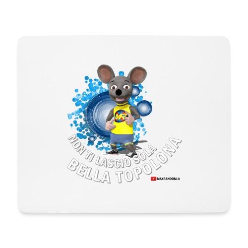 Bella Topolona testo Bianco - Tappetino per mouse (orizzontale)