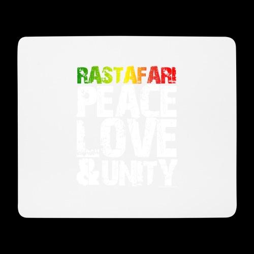 RASTAFARI - PEACE LOVE & UNITY - Mousepad (Querformat)