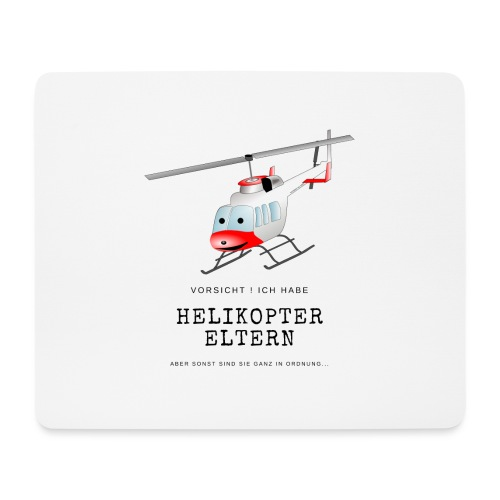 Helikoptereltern - Mousepad (Querformat)