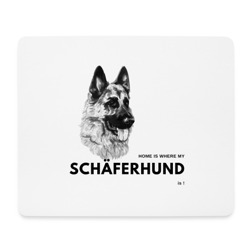 Home is where my Schäferhund is ! - Mousepad (Querformat)