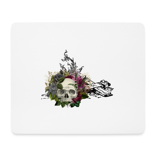 Floral Skull with Cross - Mousepad (Querformat)